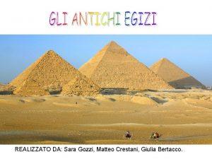 REALIZZATO DA Sara Gozzi Matteo Crestani Giulia Bertacco