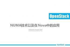 Open Stack NUMA Nova Open Stack Who 1