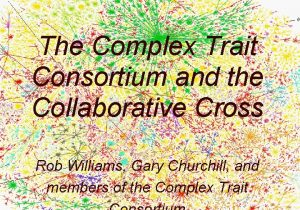 Complex trait analysis development and genomics The Complex