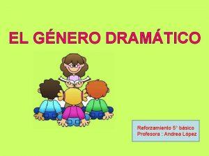 EL GNERO DRAMTICO Reforzamiento 5 bsico Profesora Andrea