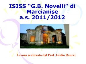 ISISS G B Novelli di Marcianise a s