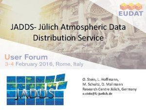 JADDS Jlich Atmospheric Data Distribution Service LOGO of