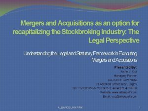 Mergers and Acquisitions as an option for recapitalizing