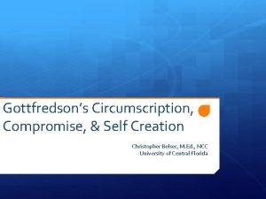 Gottfredsons Circumscription Compromise Self Creation Christopher Belser M