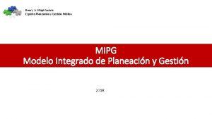 Henry A Maj Gaviria Experto Planeacin y Gestin