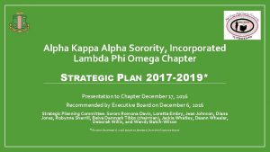 Alpha Kappa Alpha Sorority Incorporated Lambda Phi Omega