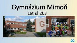 Gymnzium Mimo Letn 263 Vmnn pobyt se vcarskem