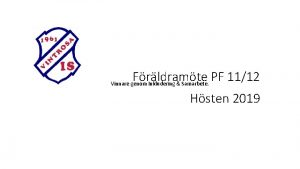 Frldramte PF 1112 Vinnare genom Inkludering Samarbete Hsten