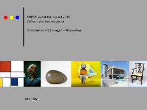 TOETS Kunst H 4 maart 2018 Cultuur van