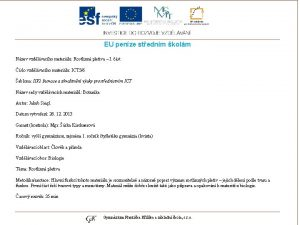 EU penze stednm kolm Nzev vzdlvacho materilu Rostlinn