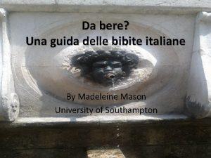 Da bere Una guida delle bibite italiane By