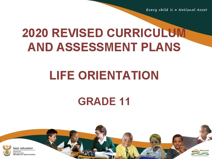 2020 REVISED CURRICULUM AND ASSESSMENT PLANS LIFE ORIENTATION