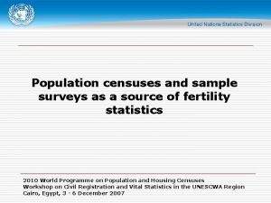 Population censuses and sample surveys as a source