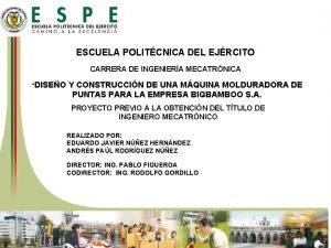 ESCUELA POLITCNICA DEL EJRCITO CARRERA DE INGENIERA MECATRNICA