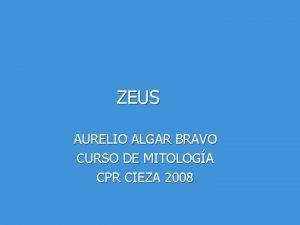 ZEUS AURELIO ALGAR BRAVO CURSO DE MITOLOGA CPR