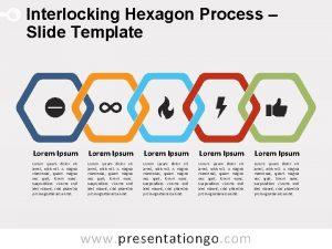 Interlocking Hexagon Process Slide Template Lorem Ipsum Lorem