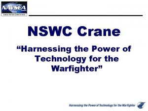 NSWC Crane Harnessing the Power of Technology for