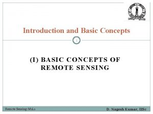 Introduction and Basic Concepts 1 I BASIC CONCEPTS