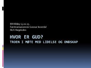 BB Bildy 13 02 15 Frsteamanuensis Gunnar Innerdal