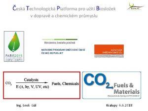 esk Technologick Platforma pro uit Biosloek v doprav