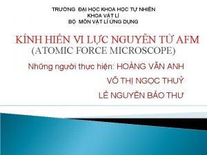 TRNG I HC KHOA HC T NHIN KHOA