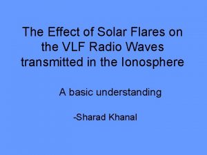 The Effect of Solar Flares on the VLF