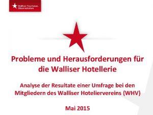 Probleme und Herausforderungen fr die Walliser Hotellerie Analyse