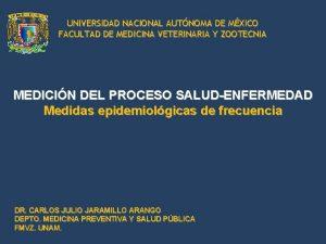 UNIVERSIDAD NACIONAL AUTNOMA DE MXICO FACULTAD DE MEDICINA