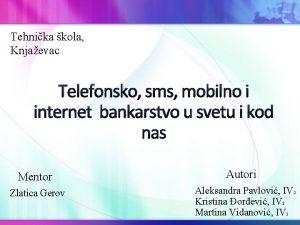 Tehnika kola Knjaevac Telefonsko sms mobilno i internet