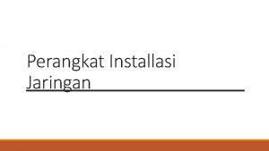 Perangkat Installasi Jaringan Kabel Tester 1 Kabel tester