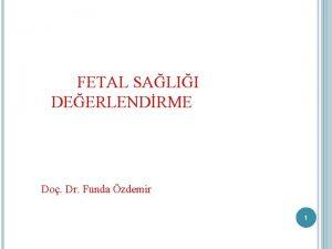 FETAL SALII DEERLENDRME Do Dr Funda zdemir 1