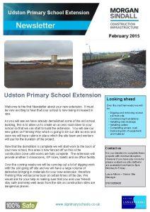 Udston Primary School Extension February 2015 Udston Primary