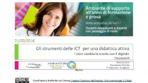 21022016 Gli strumenti delle ICT per una didattica