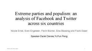 Extreme parties and populism an analysis of Facebook