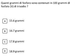 Quanti grammi di fosforo sono contenuti in 100