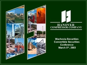 Wachovia Securities Convertible Securities Conference March 5 th