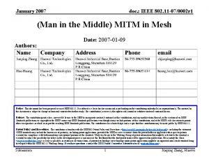 January 2007 doc IEEE 802 11 070002 r