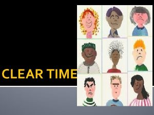 CLEAR TIME What are verb moods Verb moods