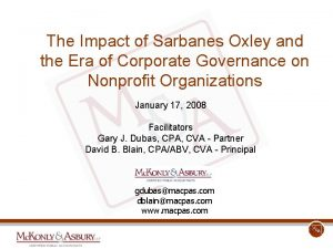 The Impact of Sarbanes Oxley and the Era