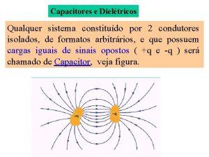 Capacitores e Dieltricos Qualquer sistema constitudo por 2