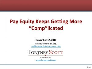Pay Equity Keeps Getting More Complicated November 17
