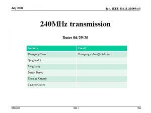 July 2020 doc IEEE 802 11 200954 r