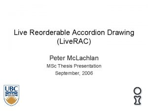 Live Reorderable Accordion Drawing Live RAC Peter Mc