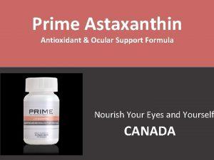 Prime Astaxanthin Antioxidant Ocular Support Formula Nourish Your