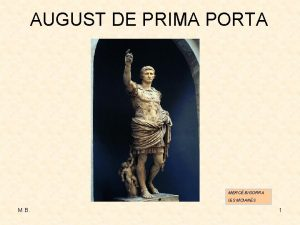 AUGUST DE PRIMA PORTA MERC BIGORRA IES MOIANS