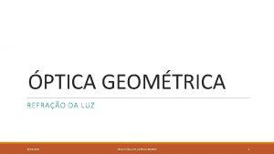 PTICA GEOMTRICA REFRAO DA LUZ 25102020 FSICO E