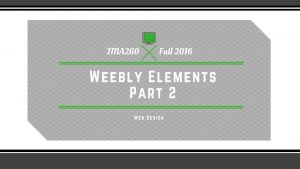 Overview Review Elements Working with Web Pages Adding