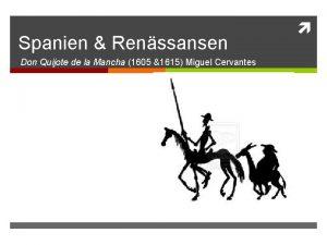 Spanien Renssansen Don Quijote de la Mancha 1605