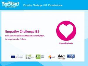 Empathy Challenge B 1 Empathiekarte Empathy Challenge B
