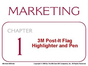 3 M PostIt Flag Highlighter and Pen Mc